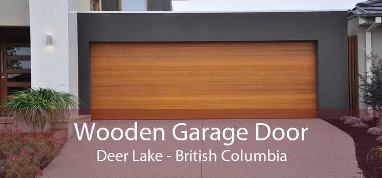 Wooden Garage Door Deer Lake - British Columbia
