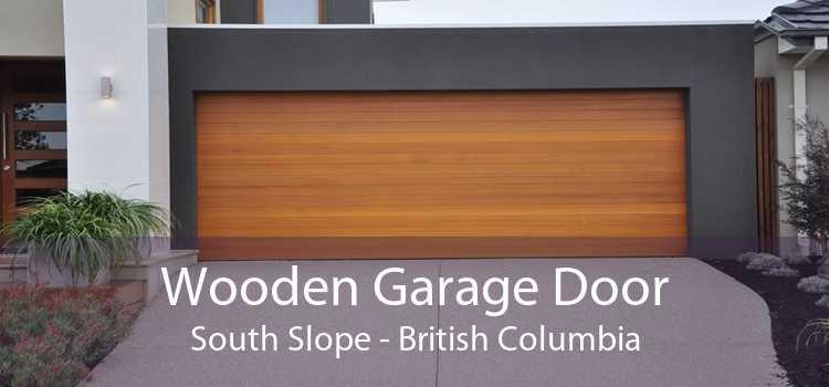 Wooden Garage Door South Slope - British Columbia