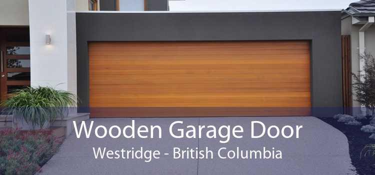 Wooden Garage Door Westridge - British Columbia