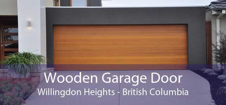 Wooden Garage Door Willingdon Heights - British Columbia